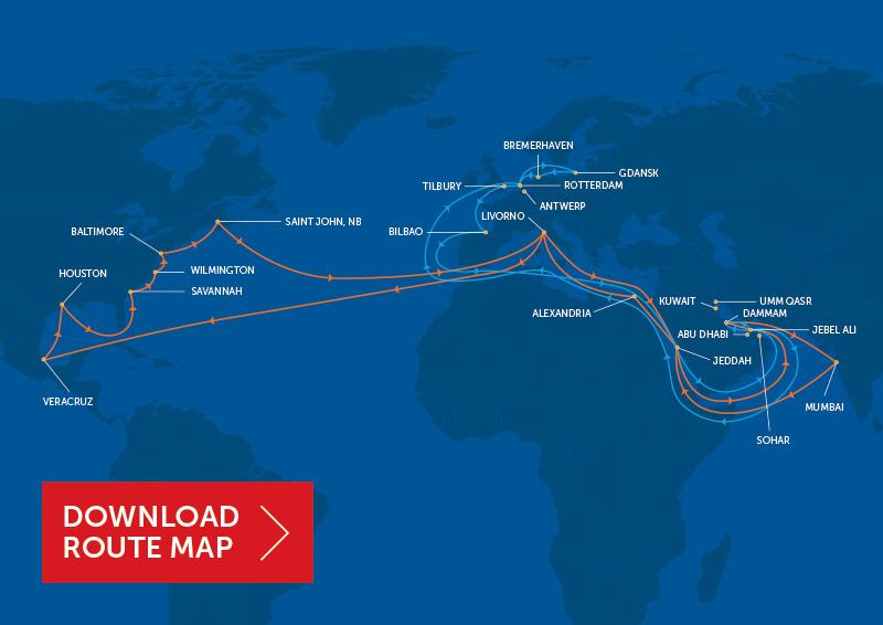 Bahri route map
